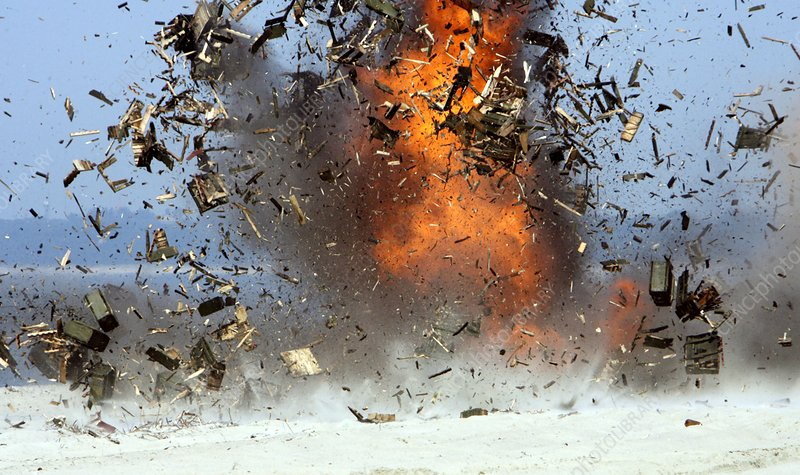 Explosion of expired munitions, Russia