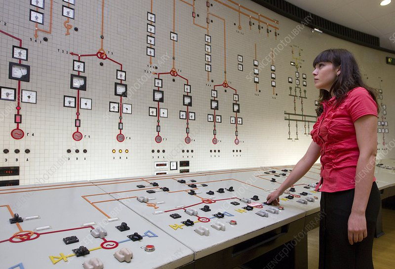Control panel of a hydroelectric dam