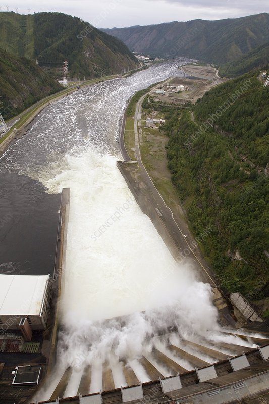 Spillway of a hydroelectric dam