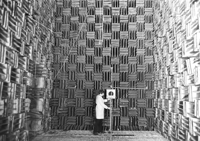 Microphone test in an anechoic chamber