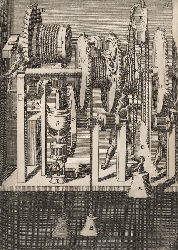 Mill cogs and gears, 17th century