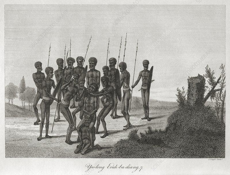 Aboriginal initiation ceremony, 1795