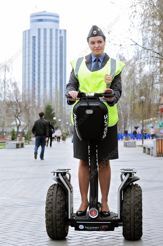 Officer on a Segway scooter