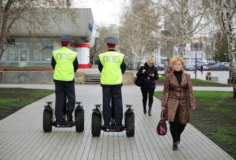 Officers on a Segway scooter