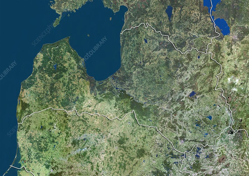 Latvia, satellite image