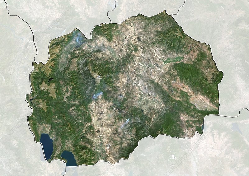 Macedonia, satellite image