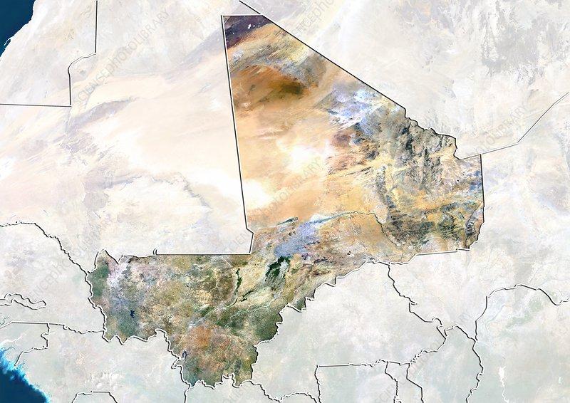 Galerry Mali Map Mali Satellite Image