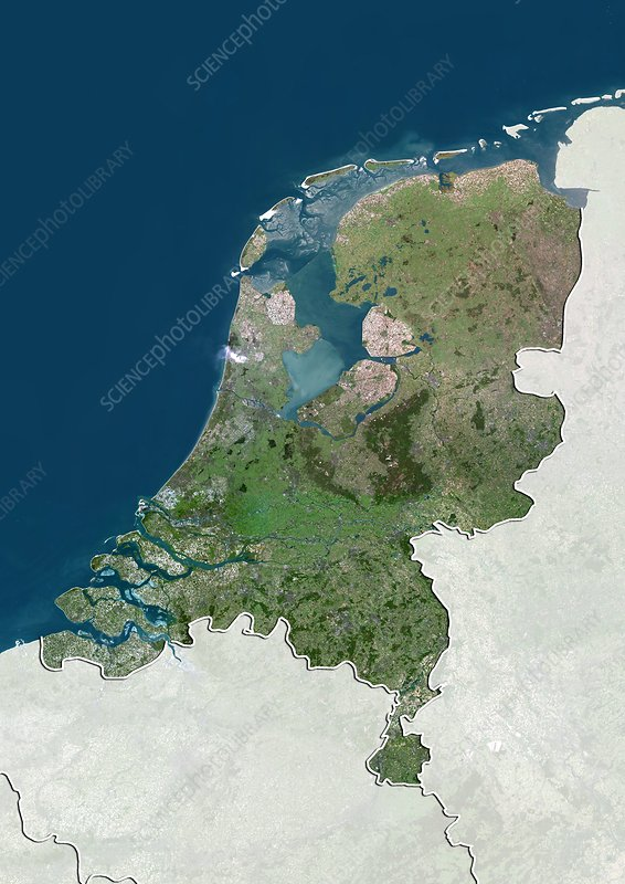 Netherlands, satellite image