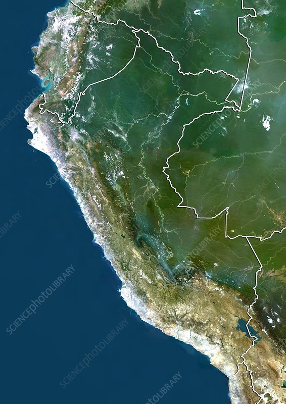 Peru, satellite image