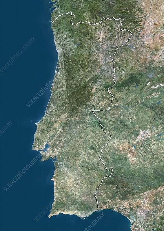 Portugal, satellite image