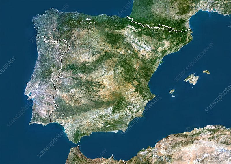 Spain, satellite image