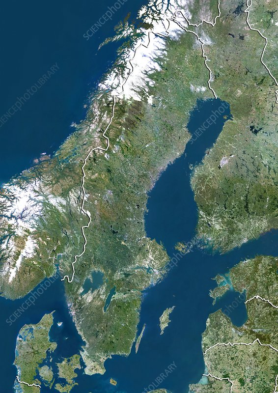 Sweden Satellite Image Stock Image C Science Photo - Sweden map satellite