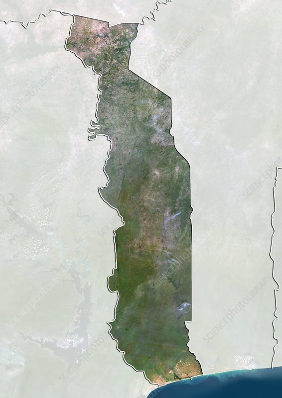 Togo, satellite image