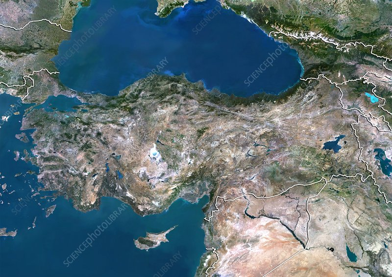 Turkey, satellite image