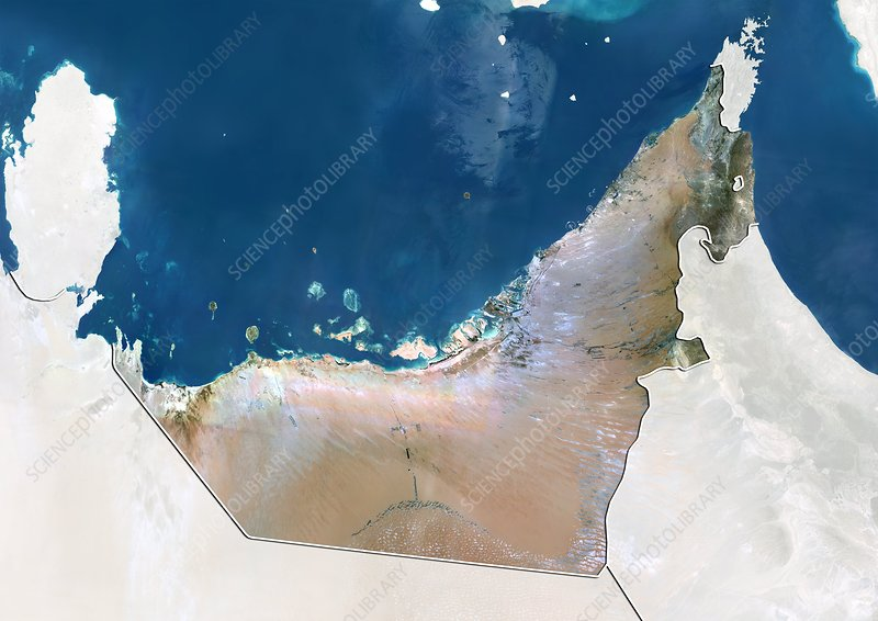 United Arab Emirates, satellite image