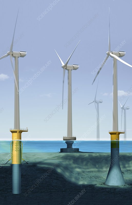 Offshore wind farm, artwork