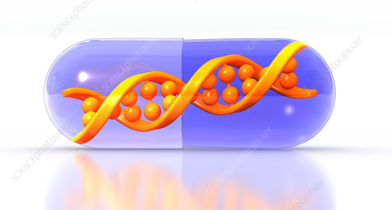 Gene therapy, conceptual image