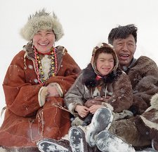 Inuit family, Russia