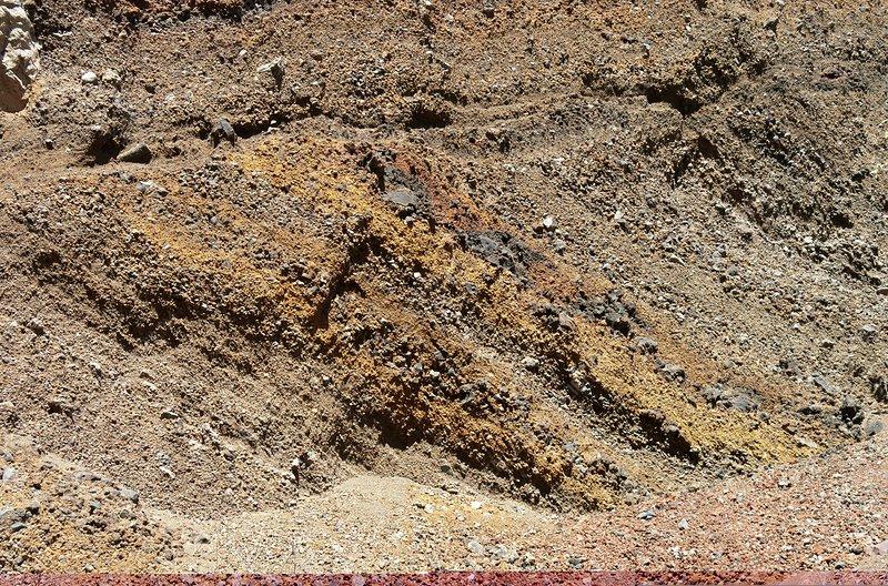 Iron-rich volcanic soil