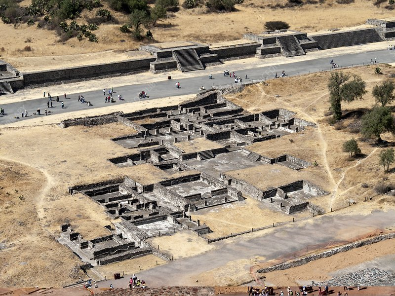 Excavation sites at Teotihuacan