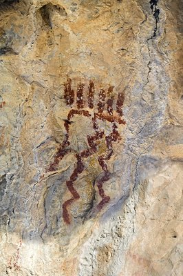 Abstract pre-Columbian rock painting