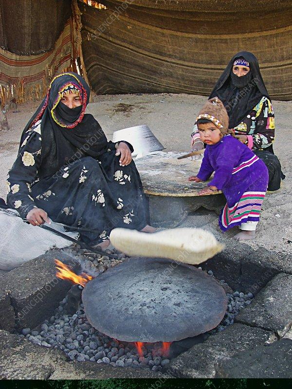Bedouin family, Egypt