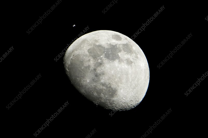 ISS and the Moon