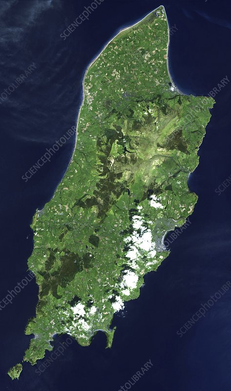 Isle of Man, satellite image