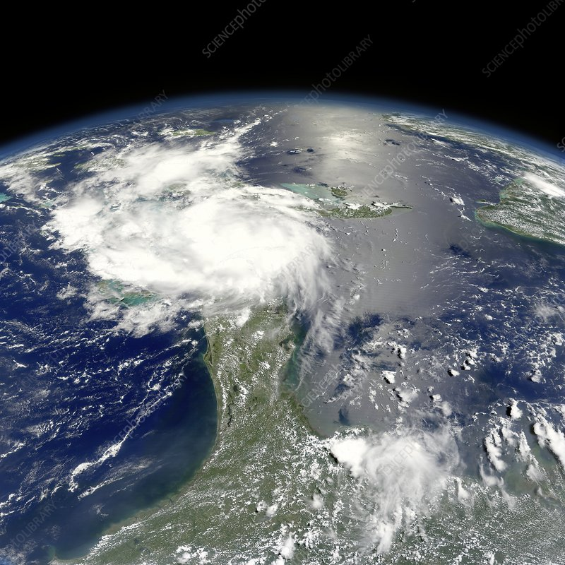 Tropical Storm Ernesto, satellite image