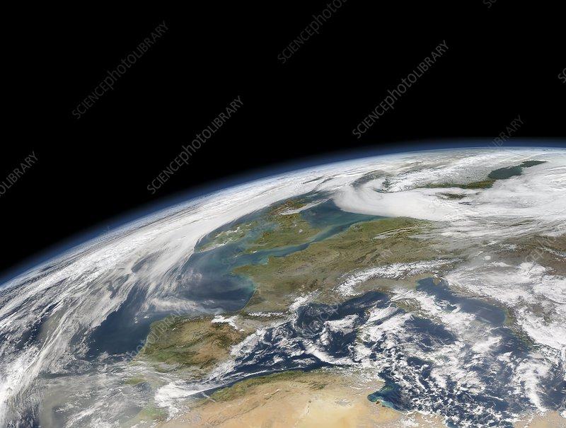 Western Europe, satellite image