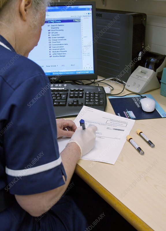Labelling blood samples