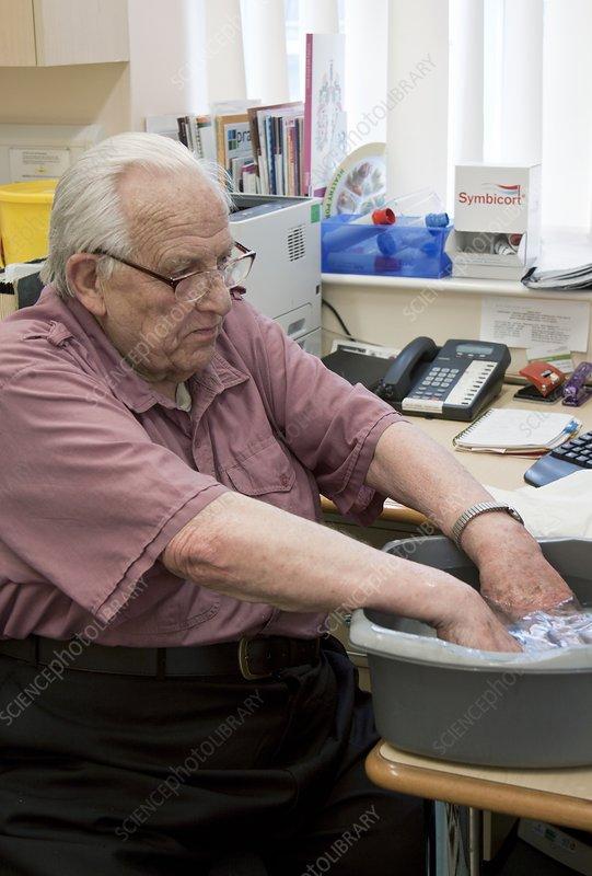 Preparing for blood sample