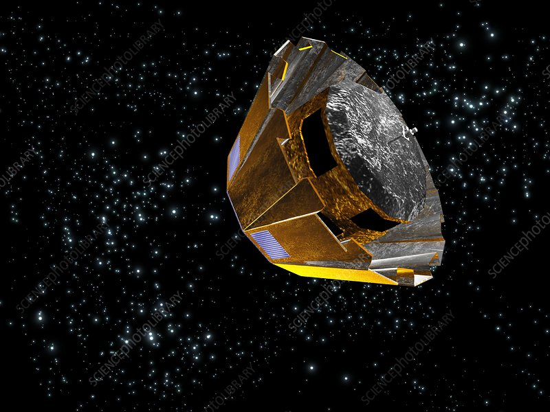 Gaia satellite deployment, artwork