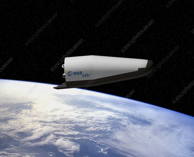 IXV re-entry vehicle, artwork