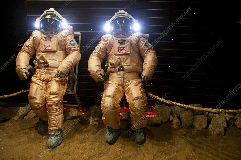 Mars-500 spacesuit tests