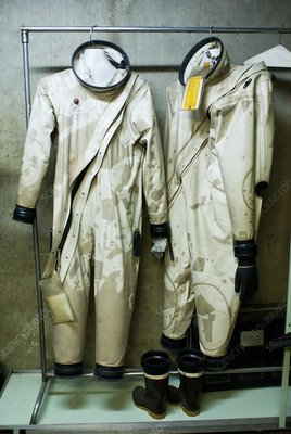 Protective suits at Titan Missile Museum