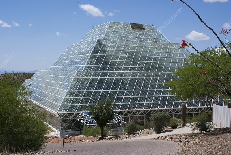 Biosphere 2 rainforest building