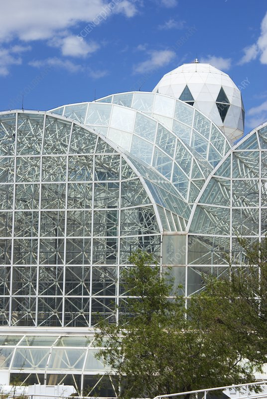 Biosphere 2 water and life building