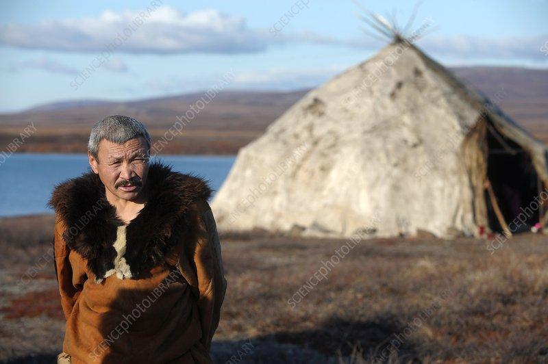 Chukchi reindeer herder, Russia