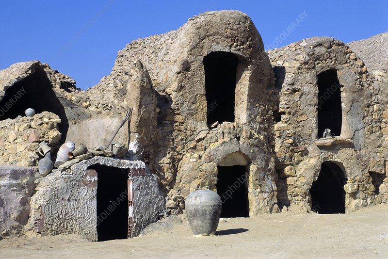 Berber dwellings, Chenini, Tunisia
