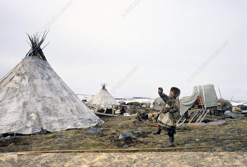 Reindeer herder camp, Russia