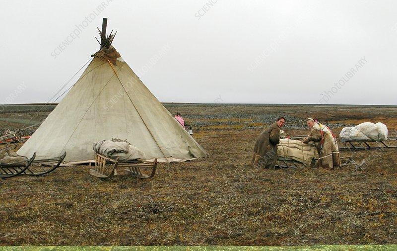 Nenets village, Russia.