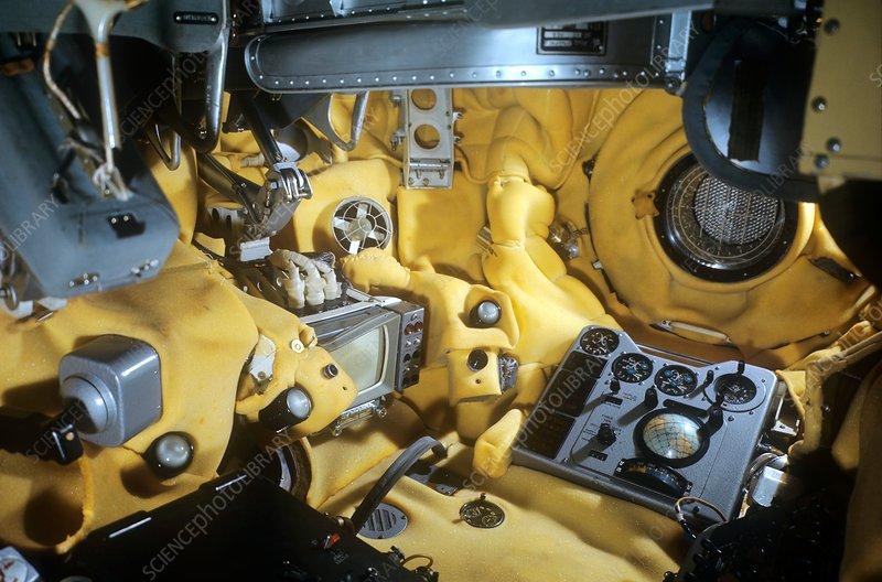 Voskhod 1 spacecraft cabin