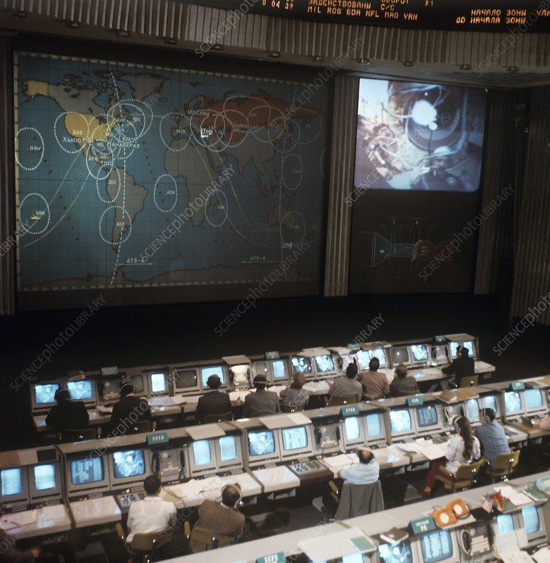 Apollo-Soyuz test project mission control