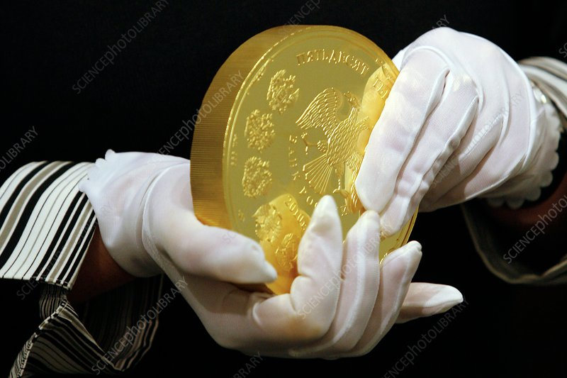Giant gold coin, Russia