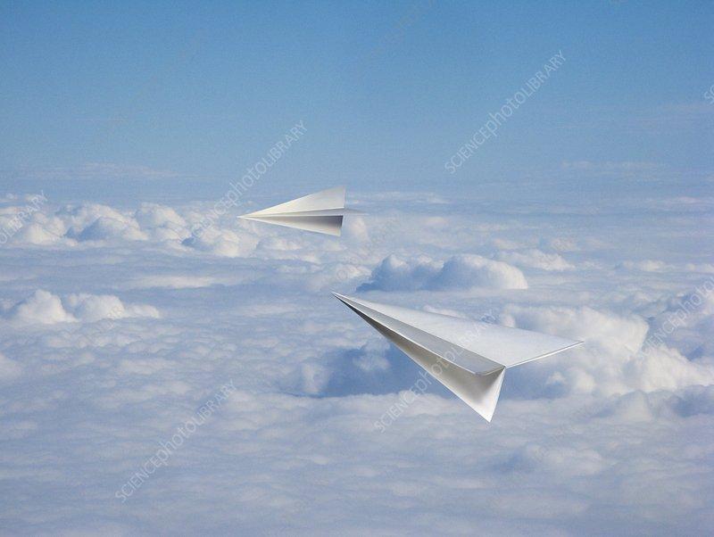 Paper aeroplanes, artwork