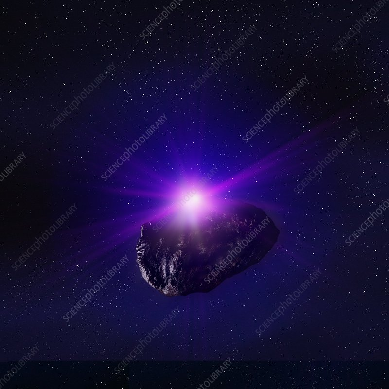 Asteroid in space, artwork