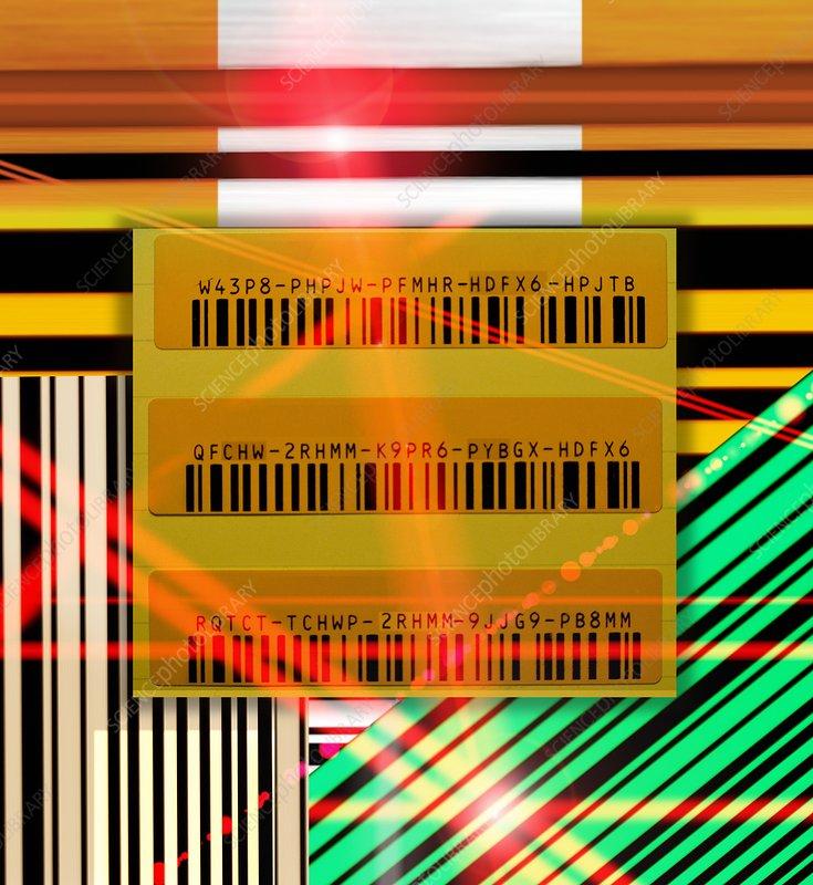 Barcode scanning, conceptual artwork
