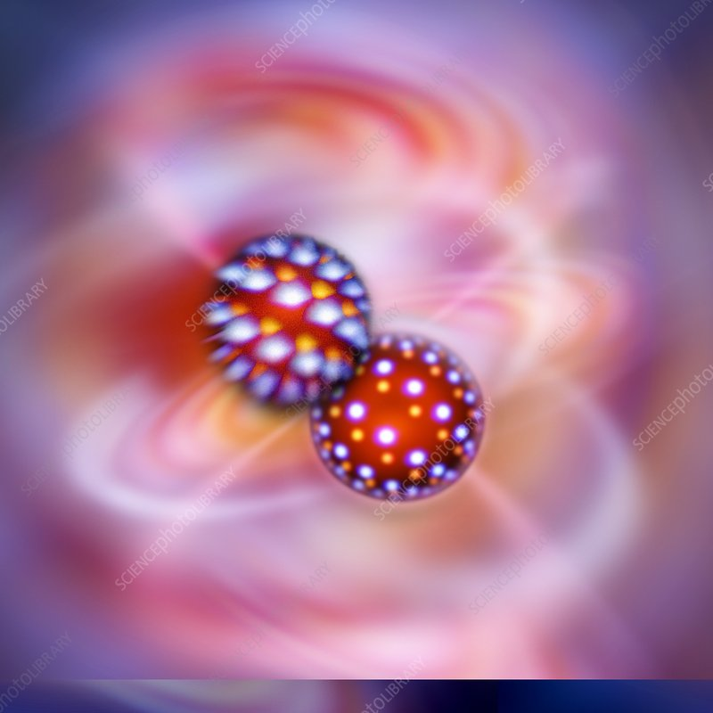 Atomic interactions, conceptual image