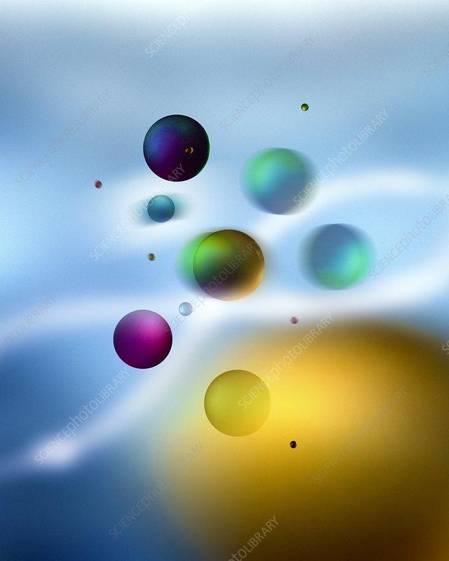 Particles, conceptual artwork